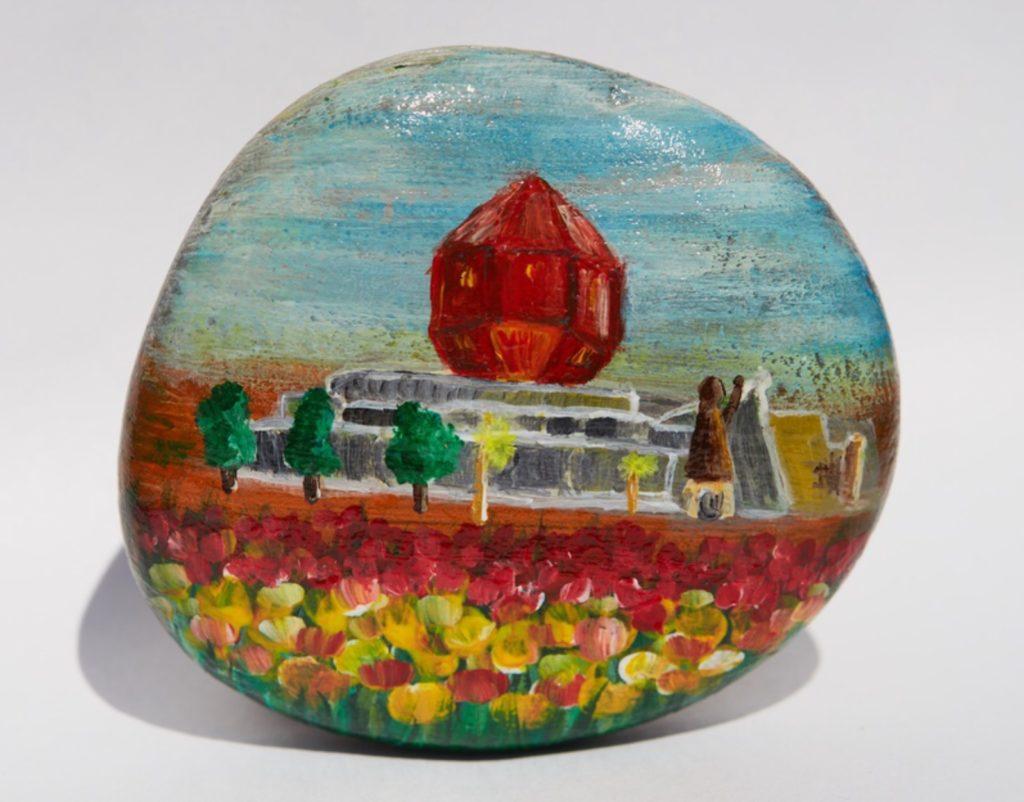 Национальная библиотека Беларуси. Рисунок на камне. Дарина Никонова